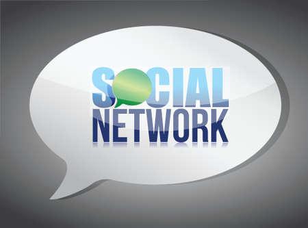 Social media speech bubble illustration design over white Stock Vector - 17966338