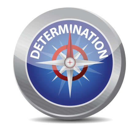 determination Glossy Compass illustration design over white Stock Vector - 17966710
