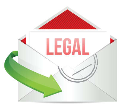 legal Concept representing email illustration design over white Stock Vector - 17966644