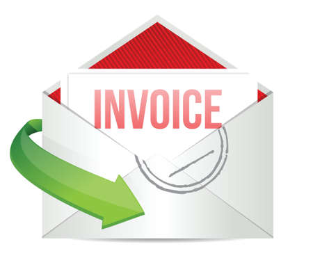 invoices: invoice Concept representing email illustration design over white
