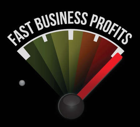 fast business profits meter illustration design background