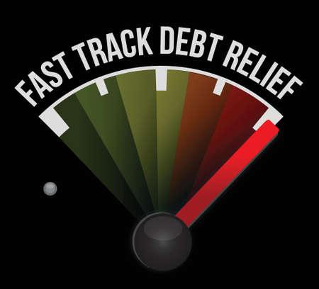 fast track debt relief meter illustration design background Stock Vector - 17966690