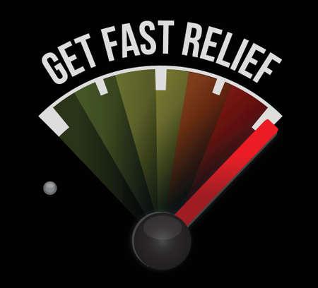 fast driving: get fast relief meter illustration design background Illustration