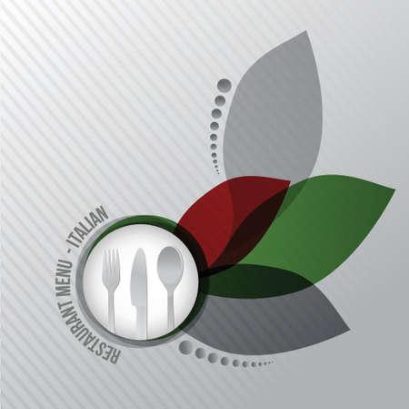 Restaurant menu italian gourmet illustration design on white background