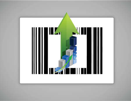 quick response code: Business upc or barcode illustration design over white