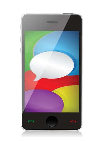 phone communication design illustration over a white background Stock Vector - 18031365