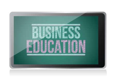 Business Education on display. tablet illustration design