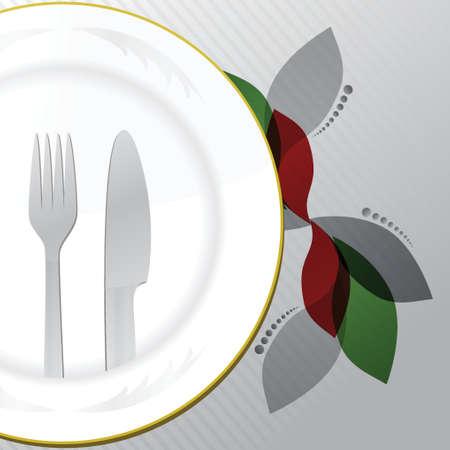 Restaurant menu food and drinks illustration design on white background