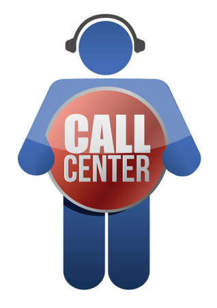 call center icon illustration design over white Ilustrace