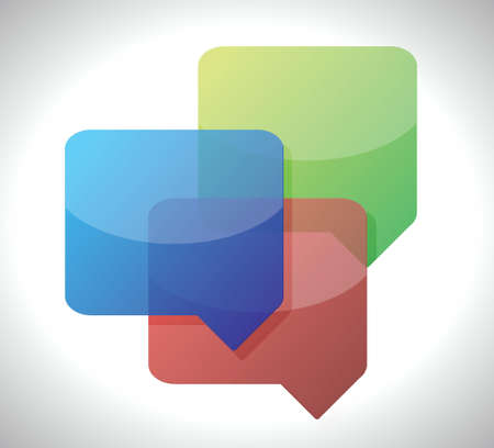 discussion forum: message bubbles illustration design over a white background Illustration
