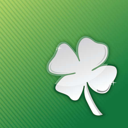 lucky clover illustration design over a green background Stock Vector - 18031355