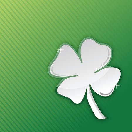 lucky clover illustration design over a green background Stock Vector - 18031355