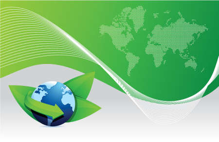 green earth globe eco illustration design background Vector