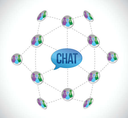 chat diagram illustration design over a white background Stock Vector - 18063680