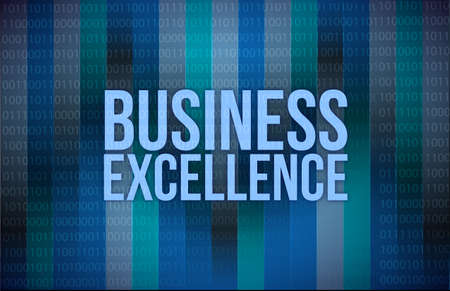 business excellence words on digital technology background