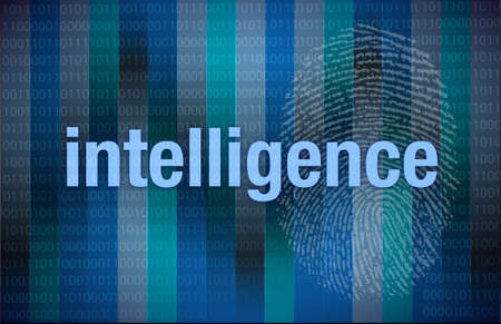 byte: intelligence Binary digital illustration design over a blue background