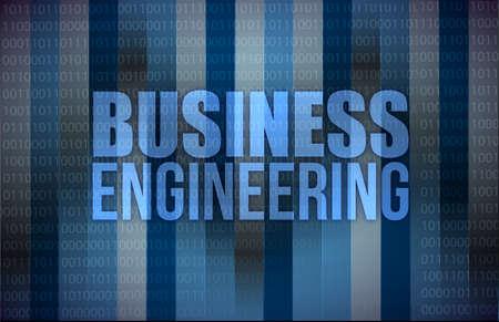 business engineering on digital screen, business concept illustration design Stock Illustration - 18063423