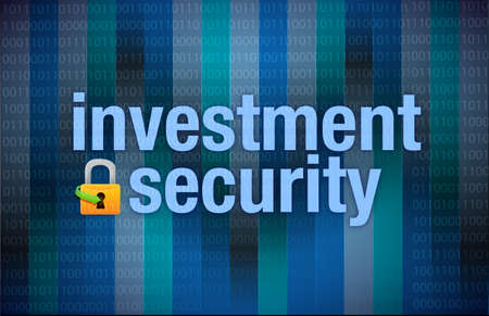 Protection concept investment security binary illustration design Stock Illustration - 18063421
