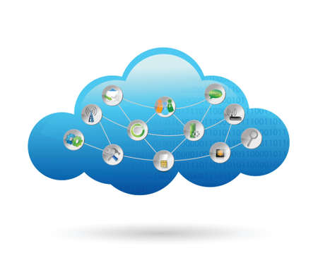 wheather forecast: cloud settings tools illustration design over a white background Illustration