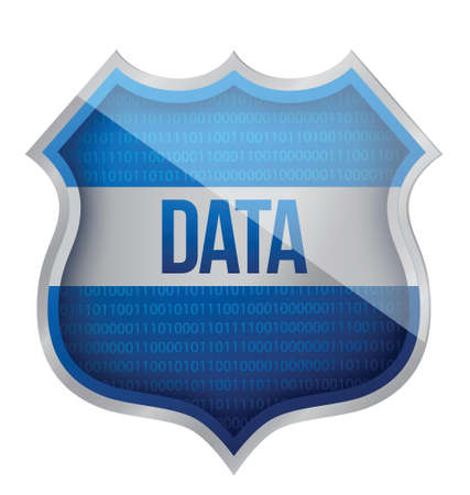 Security Data shield illustration design over a white background Vector