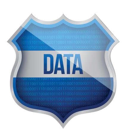 linkage: Security Data shield illustration design over a white background Illustration