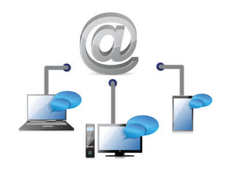 internet connection illustration design on white background