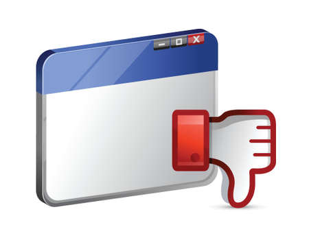 disapprove: Dislike web site Icon. Thumb down Sign illustration design Illustration