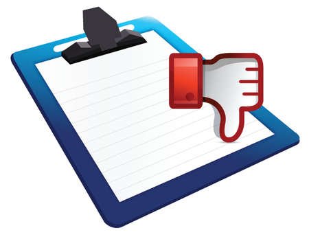 clipboard Dislike Icon. Thumb down Sign illustration design Stock Vector - 18158642