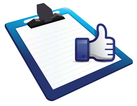 clipboard thumb up illustration design over a white background Stock Vector - 18158637