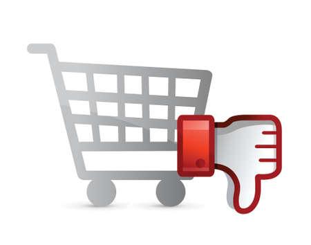 disapprove: shopping Dislike Thumb down Sign illustration design