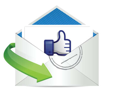 good news mail, thumb up illustration design over a white background Stock Vector - 18158852