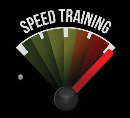 dashboard: speed training concept meter illustration design graphic