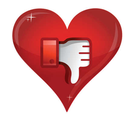 disapprove: love Dislike Icon. Thumb down Sign illustration design