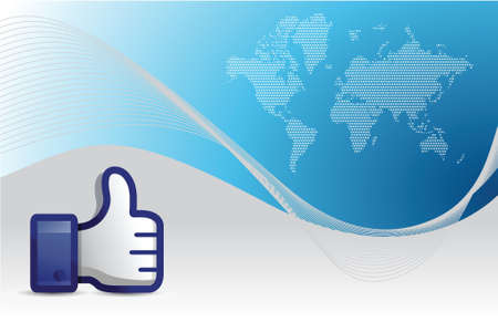 business background with thumb up illustration design
