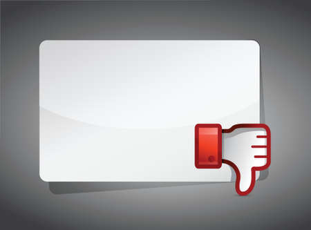 disapprove: message board Dislike Icon. Thumb down Sign illustration design