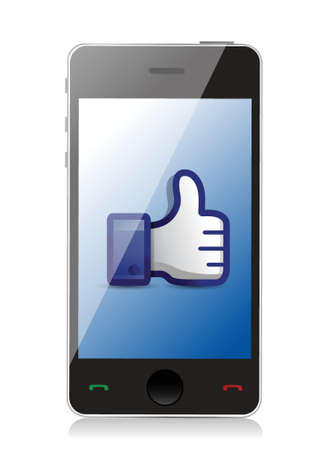 validate: phone thumbs up illustration design over a white background