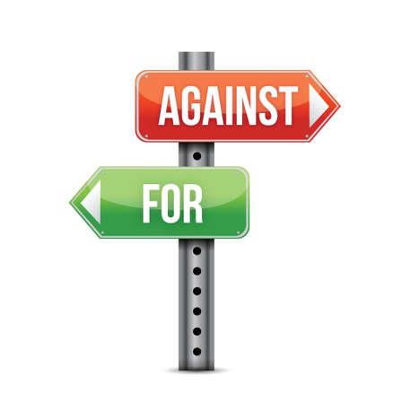 oposicion: Plan A o B a favor o en contra del dise�o ilustraci�n concepto