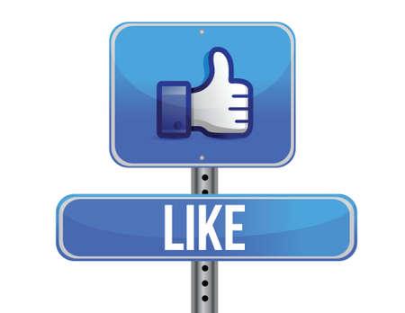 duim omhoog verkeersbord illustratie ontwerp over een witte achtergrond