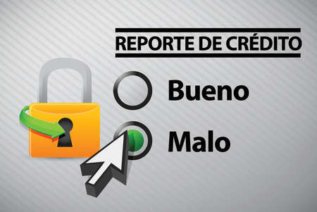 bad idea: Credit Report selection in Spanish illustration design