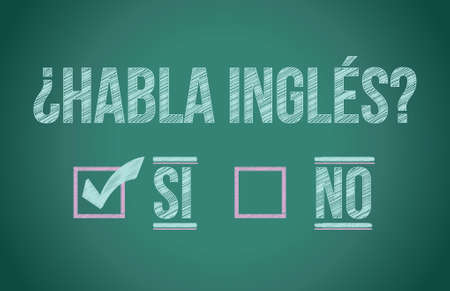 Do you speak English in spanish illustration design graphic