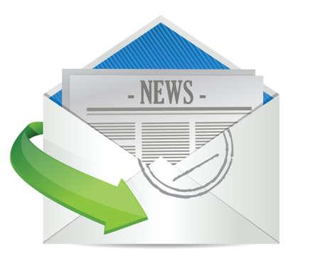 article icon: Open Envelope with News Paper inside illustration design Illustration