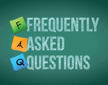 FAQ writing with white chalk on blackboard illustration Vector