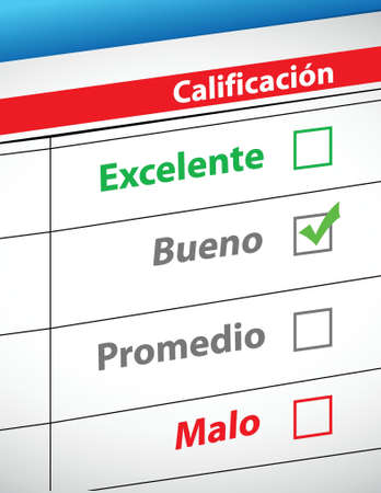 feedback selection concept in Spanish illustration design Stock Vector - 18158661