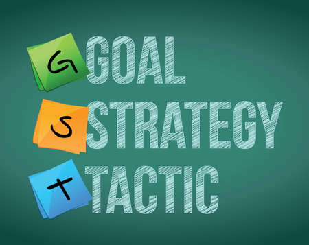 goal policy strategy tactic, illustration design over white Stock Vector - 18158886