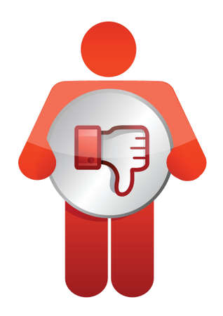disapprove: icon dislike thumbs down illustration design over white