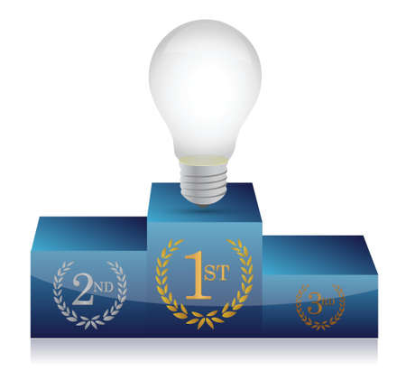 competitions: idea winners podium illustration design on white background