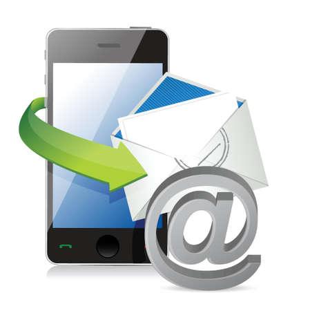 연락, 전화 또는 우편으로 연락하십시오. 흰색 배경 위에 그림 디자인