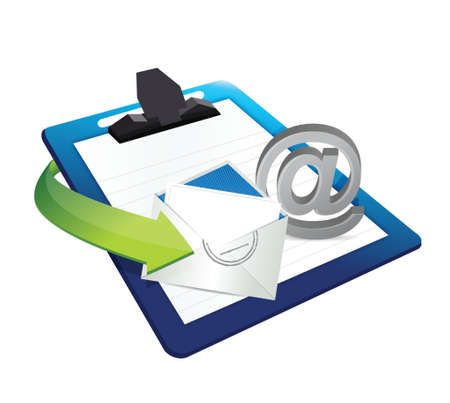 chatbox: contact us clipboard illustration design over a white background