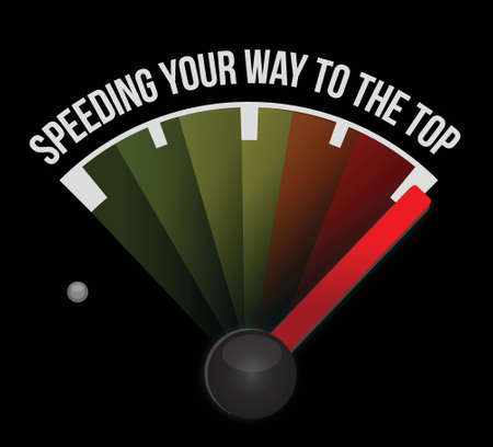 speeding your way to the top concept speedometer illustration Stock Vector - 18210350