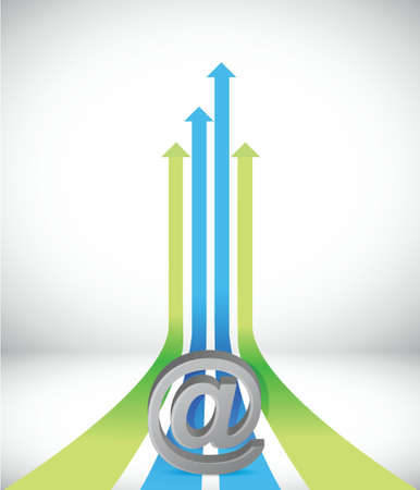 internet Arrow rising toward same direction success concept illustration design